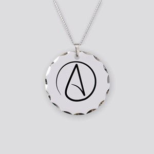 Atheism Symbol Necklace Circle Charm