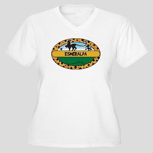 ESMERALDA - safari Women's Plus Size V-Neck T-Shir