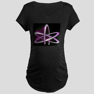 Atheism Atom Symbol Maternity Dark T-Shirt