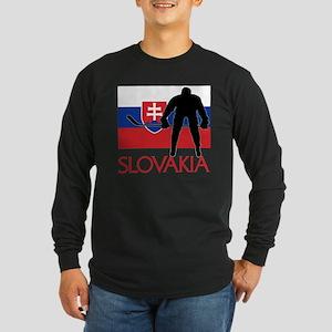 Slovak Hockey Long Sleeve Dark T-Shirt