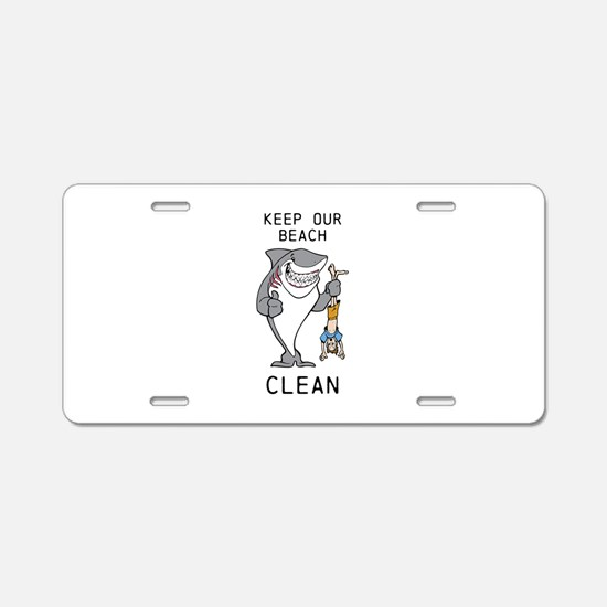 Clean Beaches Aluminum License Plate