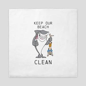Clean Beaches Queen Duvet