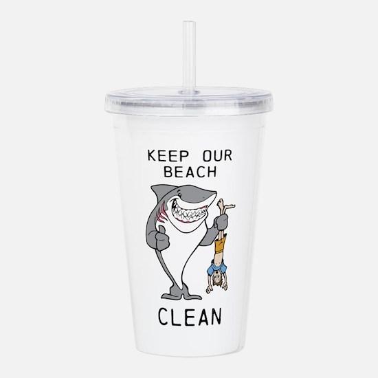 Clean Beaches Acrylic Double-wall Tumbler