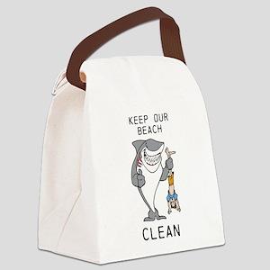 Clean Beaches Canvas Lunch Bag
