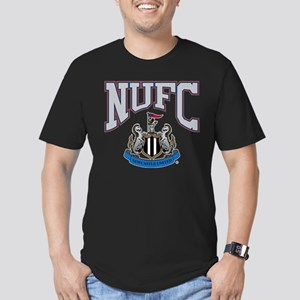 NUFC and Crest Men's Fitted T-Shirt (dark)