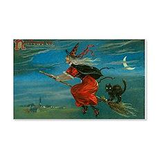 Vintage Halloween Postcard - Witc Wall Decal