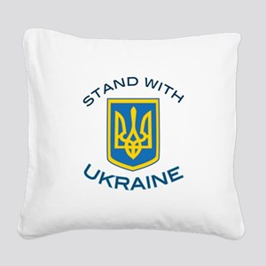 Stand With Ukraine Square Canvas Pillow