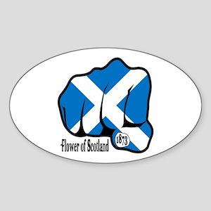 Scotland Fist 1873 Oval Sticker