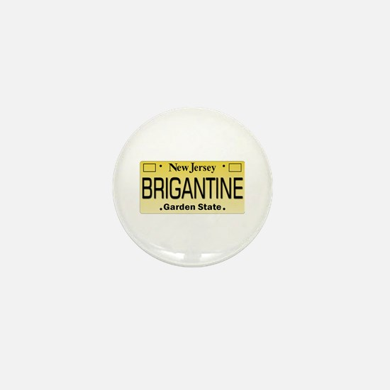 Brigantine NJ License Tagwear Mini Button
