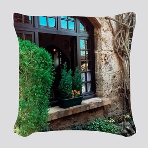 Window box in Perouges Woven Throw Pillow