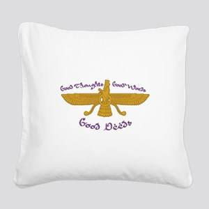 Good Thoughts Square Canvas Pillow