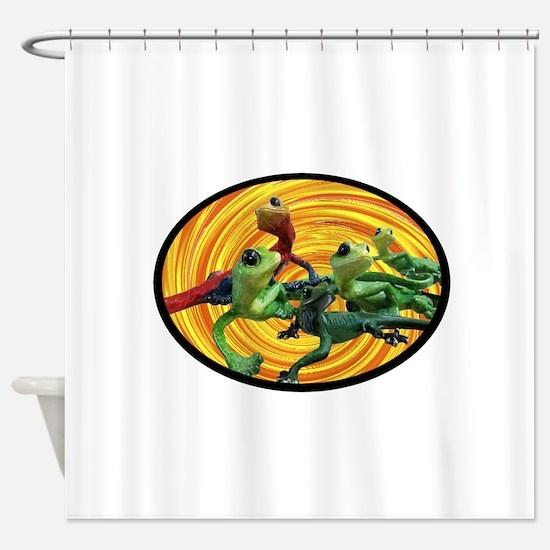 HANGING AROUND Shower Curtain