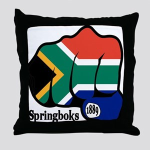 South Africa Fist 1889 Throw Pillow