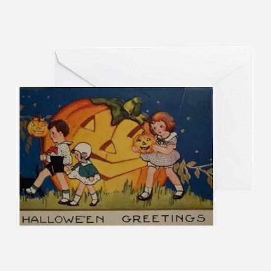 Vintage Halloween Postcard 6 Greeting Cards