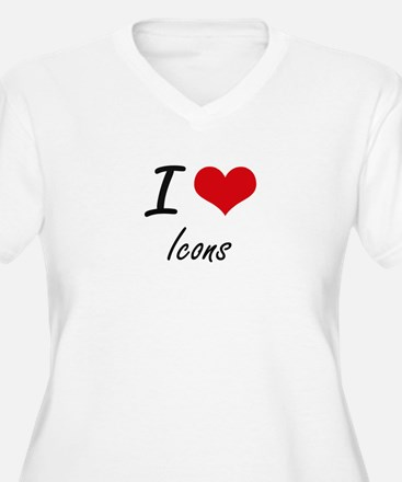 I love Icons Plus Size T-Shirt
