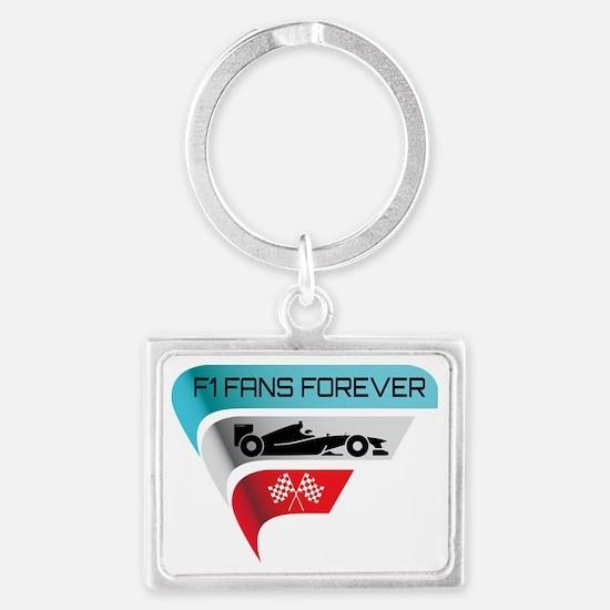 F1 Fans Forever Landscape Keychain