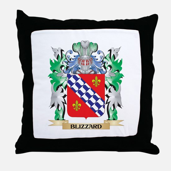 Blizzard Coat of Arms - Family Crest Throw Pillow
