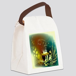 Colorful christmas design Canvas Lunch Bag
