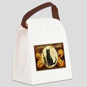 Vintage Halloween Postcard 7 Canvas Lunch Bag