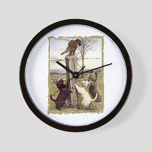 Scottie Westie & Skye Terriers Wall Clock