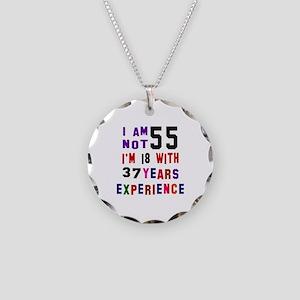 55 Birthday Designs Necklace Circle Charm