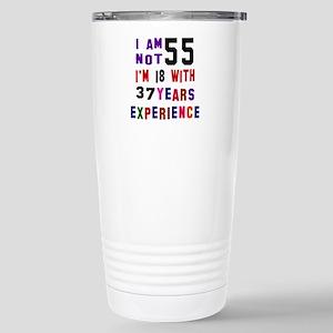 55 Birthday Designs Stainless Steel Travel Mug