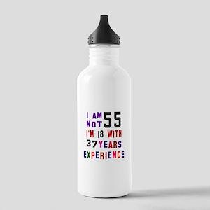 55 Birthday Designs Stainless Water Bottle 1.0L