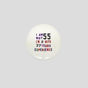 55 Birthday Designs Mini Button