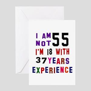 55 Birthday Designs Greeting Card