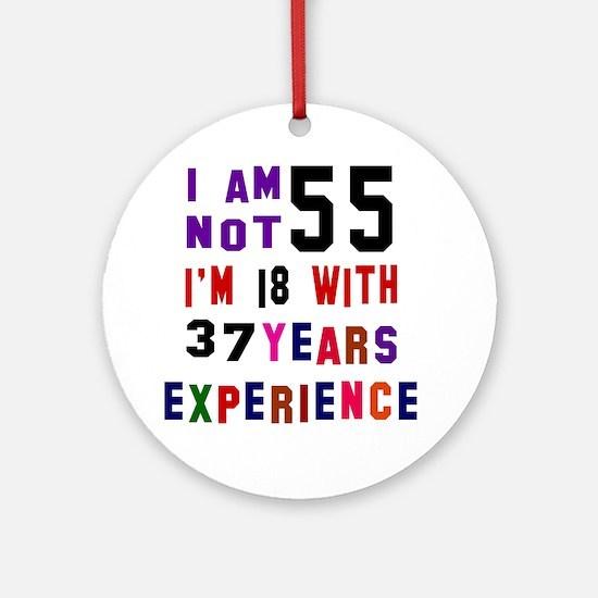 55 Birthday Designs Round Ornament