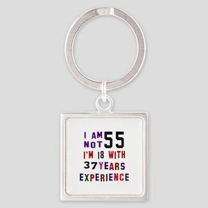 55 Birthday Designs Square Keychain
