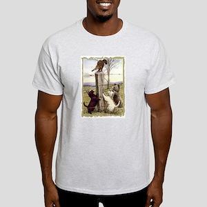 Scottie Westie & Skye Terriers Ash Grey T-Shirt