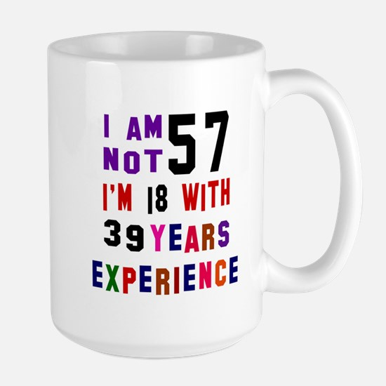 57 Birthday Designs Large Mug