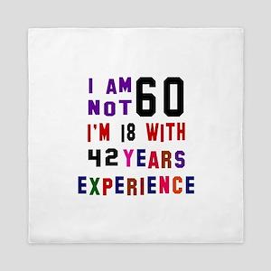60 Birthday Designs Queen Duvet