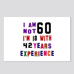 60 Birthday Designs Postcards (Package of 8)