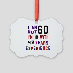 60 Birthday Designs Picture Ornament