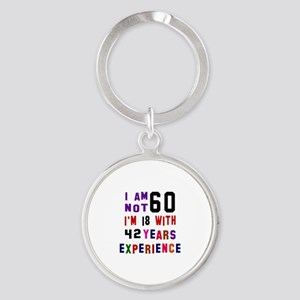 60 Birthday Designs Round Keychain
