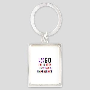 60 Birthday Designs Portrait Keychain