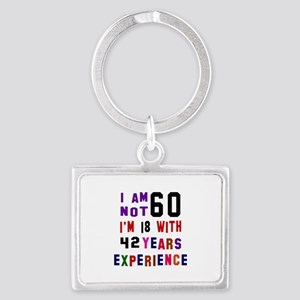 60 Birthday Designs Landscape Keychain