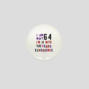 64 Birthday Designs Mini Button