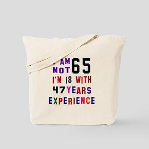 65 Birthday Designs Tote Bag