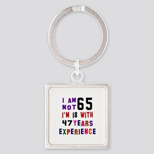 65 Birthday Designs Square Keychain