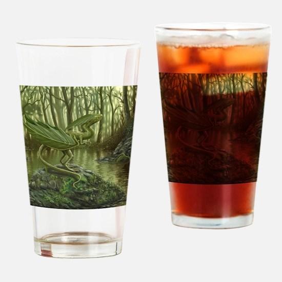 Earth Leaf Dragon Drinking Glass