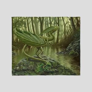 Earth Leaf Dragon Throw Blanket