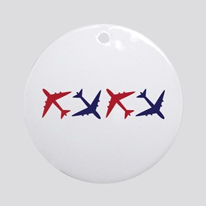 Airplanes Round Ornament