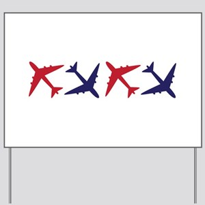 Airplanes Yard Sign