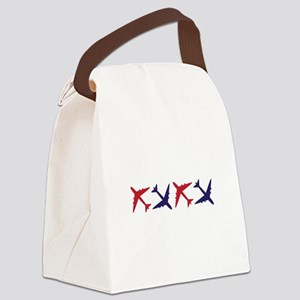 Airplanes Canvas Lunch Bag