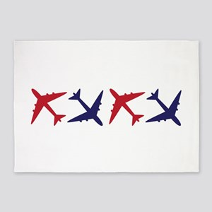Airplanes 5'x7'Area Rug