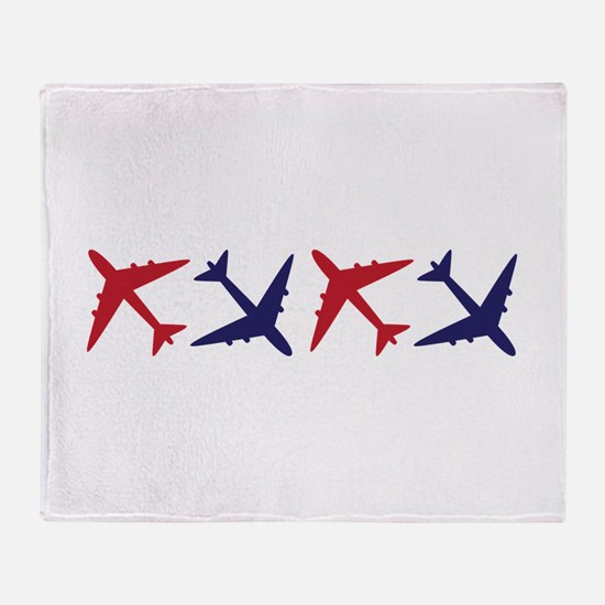 Airplanes Throw Blanket