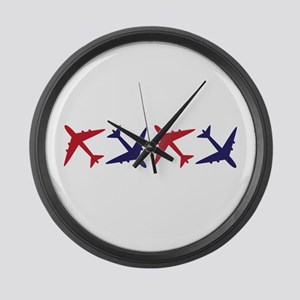 Airplanes Large Wall Clock